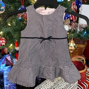 Gymboree houndstooth pink / black dress